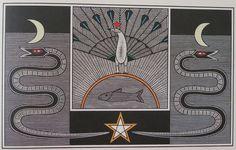"""""""O senhor do dia"""", xilogravura de 1988 de Gilvan Samico."""