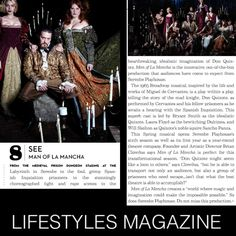 Check out our fabulous feature in LIFESTYLES MAGAZINE & get your tickets to week 2 of MAN OF LA MANCHA. Man Of La Mancha, Don Quixote, You Got This, Magazine, Check, Movie Posters, Life, Inspiration, Miguel De Cervantes