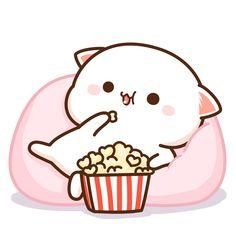 what a great movie😋 Cute Bunny Cartoon, Cute Kawaii Animals, Cute Love Cartoons, Cute Bear Drawings, Cute Kawaii Drawings, Cute Love Gif, Cute Love Pictures, Chibi Cat, Cute Chibi