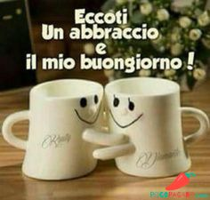 2016 Creative Cute Porcelain Cup One Pair Smile Cup Emoji Facial Expression Hug Me Mug Valentine's Day Gifts Lovers Present Italian Memes, Italian Quotes, Good Morning Coffee, Good Morning Good Night, Cute Hug, Italian Phrases, Heart Songs, Need A Hug, Coffee Gifts