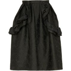 Rodarte Ruffled A-Line Skirt (71 165 UAH) ❤ liked on Polyvore featuring skirts, black, a line skirt, frilled skirt, frill skirt, flounce skirt and flouncy skirt