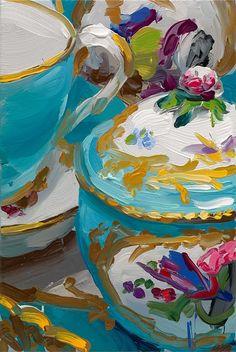 jan de vliegher - requires focus to discern the figures. Beautiful color play.