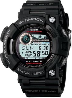 No tourbillons here. The G-Shock Frogman GWF1000 ($560) is the definition of a wristbeast. Released in late 2009, we finally got a chance to get our hands on glad to declare that it's a gear o'beauty. That is, assuming your idea of beauty is a solar-powered, atomic-timekeeping, dive-timing son of a bitch. The self-adjusting G-Shock Frogman ensures land or seabound adventurers will spend more time worrying about survival and less time worrying about depreciation. 200 meter water resistance…