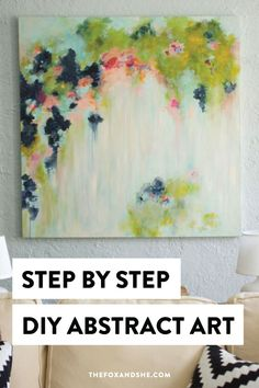 Looking for DIY abstract art that's colorful and made with acrylics?Learn how to create DIY home decor that's gives life to your space with step by step instructions and a list of everything you need…More Abstract Canvas Art, Diy Canvas Art, Acrylic Paintings, Portrait Paintings, Colorful Paintings Abstract, Acrylic Abstract Painting Techniques, How To Abstract Paint, Wall Paintings, Colorful Artwork