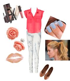 """""""Back to School outfit"""". I really love the jeans and colour of the top!"""