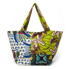 african wax print! I wish I could get a diaper bag like this.