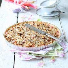 Knäckig rabarberpaj – recept