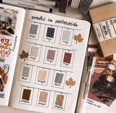 20 Creative Washi Tape Swatch Layouts For Your Bullet Journal Bullet Journal Washi Tape, Bullet Journal 2019, Bullet Journal Writing, Bullet Journal Ideas Pages, Bullet Journal Inspiration, Washi Tape Notebook, Autumn Bullet Journal, Bullet Journals, Bujo