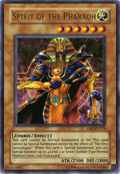 Spirit of the Pharaoh - Haley Yu Gi Oh, Rare Yugioh Cards, Gundam Toys, Zombie Monster, Yugioh Collection, Monster Cards, Summoning, Creature Design, Magic The Gathering