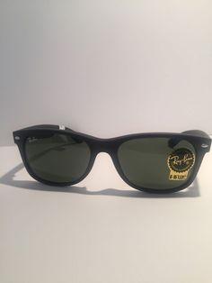 d2616326ab3 Ray-Ban New Wayfarer RB2132 622 55mm Matte Black Rubber Frame  fashion   clothing