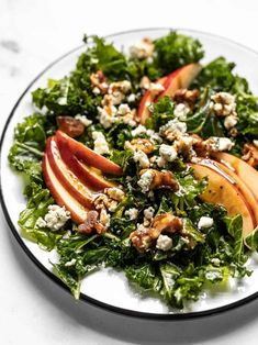 All the flavors of fall come together in this Autumn Kale and Apple Salad, with candied walnuts and a homemade balsamic vinaigrette. BudgetBytes.com