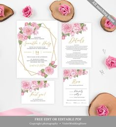 Peach and cream wedding invitation template printable wedding peach and cream wedding invitation template printable wedding invitation floral wedding invitation blush garden romantic download all tex xv aos stopboris Images
