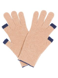 Etre Touchy Cashmere Gloves: Camel with Marine Blue Trim - Etre Shop - Purveyors of Etre Touchy Gloves, Etre FIVEPOINT Gloves and other desi...