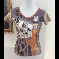 """Custo Barcelona Top This Custo tee is great on it's own or with a jacket  100% cotton Chest 32""""; length 21"""". Has some stretch gently pre loved. No damage or pilling pictured jacket is listed separately. Bundle discounts Custo Barcelona Tops Tees - Short Sleeve"""