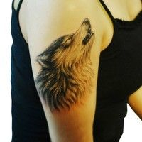 Wish | New Removable Waterproof Lone Wolf howl month Arm Tattoo Body Art Stickers Cool