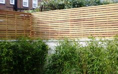 Contemporary Slatted Panels - Slatted Fence Panels - Essex UK, The Garden Trellis Company: Garden Privacy, Privacy Screen Outdoor, Garden Trellis, Garden Fencing, Privacy Trellis, Trellis Fence, Patio Fence, Fence Landscaping, Fence Design