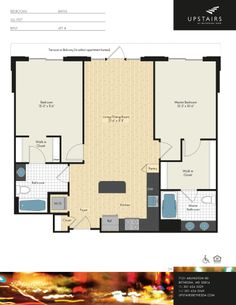 Two bedroom, two bath, 1,059.