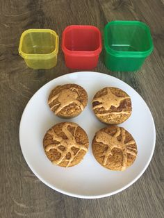 80 Day Obsession Approved! Carrot Cake Muffins: Green: Carrots Red: Egg Yellow: Oats Teaspoon: Peanut butter 10 baby carrots, 2 eggs, 1/4 cup of oats, 1 teaspoon of cinnamon, 1 teaspoon of vanilla all in a blender until smooth. Pour into muffin tin and bake at 350' for 20-25 minutes. #80dayobsession #planc #pland