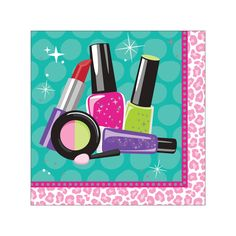 Sparkle Spa Party Beverage Napkins/Case of 192