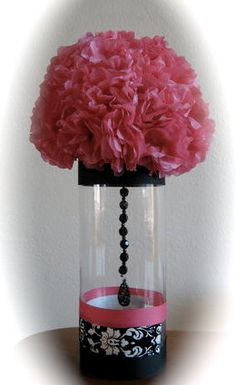 damask centerpiece, made these for Steffanis shower and they were SO easy!