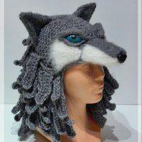 Exceptional Stitches Make a Crochet Hat Ideas. Extraordinary Stitches Make a Crochet Hat Ideas. Crochet Wolf, Crochet Animal Hats, Crochet Dragon, Crochet Beanie, Knit Or Crochet, Crochet Gifts, Wolf Hat, Crochet Costumes, Halloween Crochet