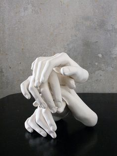 """""""Do You Mind Me Being More Than One"""", 2006 – Annette Ruenzler - sculpture of hands Body Cast, Show Of Hands, Hand Sculpture, Healing Hands, Hand Art, Art Furniture, Art Object, Oeuvre D'art, Ceramic Art"""