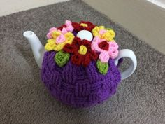 Purple basket weave Tea cosy for a medium or by SpecialHandmade444
