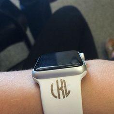 Glitter Fitbit Apple Watch Personalized Monogram Vinyl Decals ~ Sharpie Decals ~ Nail Decals