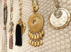 Stella & Dot Spring 2017 pendants and tassels for days!