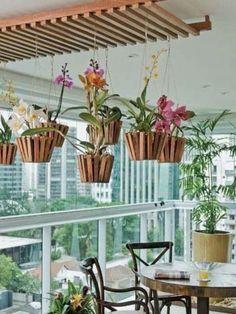 models of pergola in outdoor areas - photos - Coming home - Orchideen Hanging Orchid, Hanging Plants, Indoor Plants, Diy Hanging, Garden Plants, Balcony Gardening, Orchids Garden, Ceiling Hanging, Gardening Books