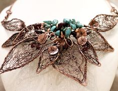 New Copper Wire Work Necklace