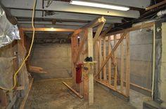 Souterrain-Schlafzimmer design Bau