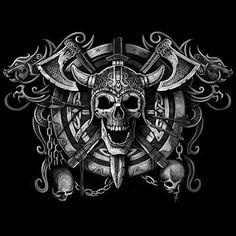 Viking Skull: