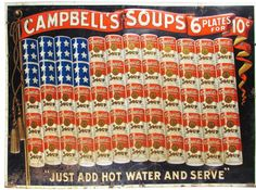 Rare Campbell's Soup Embossed Tin Sign.