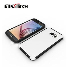 Galaxy s6 case [Armor Plastic Back] from EKiTech, Includes: 1 Tempered Glass Screen Protector [0.33mm Premium Shock Proof] For Samsung s6 Case and 1 Selfie Stick [cable] For s6 cases from EKiTech Enhance full protection now! (white) EKiTech http://www.amazon.com/dp/B01168JI84/ref=cm_sw_r_pi_dp_u4TVvb0WZ73S0