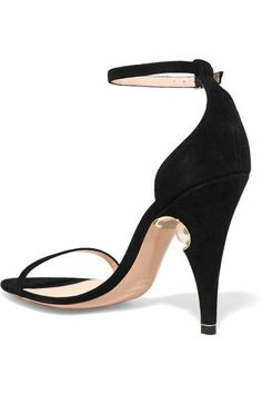 Nicholas Kirkwood - Penelope Embellished Suede Sandals - Black - IT36.5