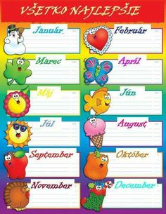 Looking for a Printable Birthday Chart For Classroom. We have Printable Birthday Chart For Classroom and the other about Printable Chart it free. Birthday Chart Classroom, Birthday Charts, Birthday List, Classroom Decoration Charts, Classroom Borders, School Days Images, Birthday Calendar, Childhood Education, In Kindergarten