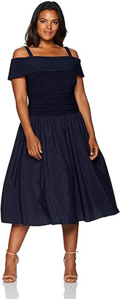 832bfcc15f2 Jessica Howard Women s Plus Size Shoulder Fit and Flare Dress