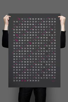 Plainworks — Minimal Calendar http://plnwrx.com/w5m #Calendar #2015 #Typography #Poster #Print #Graphicdesign #Design #Infographic