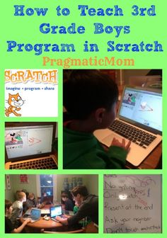 How to teach 3rd grade boys to program in Scratch :: PragmaticMom