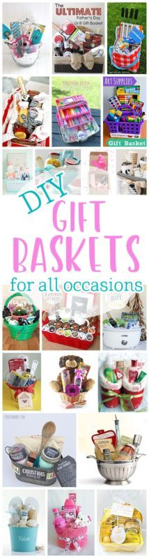 about Theme diy gift basket ideas | Unique, homemade, creative, make your own, Cheap / on budget for adults men, women and family, food / non food complete