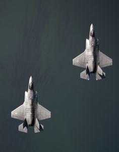 F-35 Lightninig II BF-2 and BF-4 undergoing testing and evaluation flight