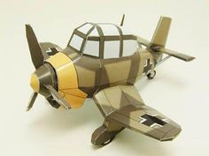 This very original paper model of a WW2`s aircraft  in SD style (super deformed style) , the  Junkers Ju 87 Stuca,  from German Air Force, ...