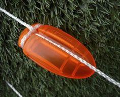 Genius ... light for tent ropes.