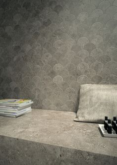 TriBeCa by Mirage // porcelain tiles in a unique scallop pattern