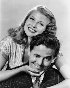 Glenn Ford and Rita Hayworth in publicity stills for Gilda, 1946.