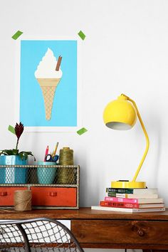 Add this ice cream print to your workspace.