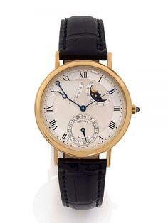 BREGUET pour CHAUMET N° 3703/100136, vers 1990 Belle montre bracelet en or jaune 18K (750). Bo�
