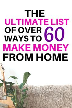 60 Easy Ways to Make Money From Home,The ultimate list of easy, fast ways to make money from home and start making a passive income this year. These making money ideas are perfect whether. Make Money Blogging, Money Tips, Money Saving Tips, Make Money Online, Managing Money, Money Hacks, Work From Home Jobs, Make Money From Home, Way To Make Money