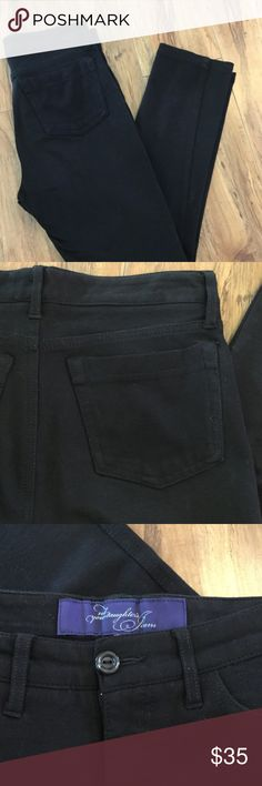 """🍃Brown Stretch Jeans🍃Waist 27-30 inches🍃 🍃Brown Stretch Not Your Daughter's Jeans.  Waist measures 28 """" but stretches to 30 """" . Beautiful rich brown color. Great condition.🍃 Not Your Daughter's Jeans Jeans Straight Leg"""